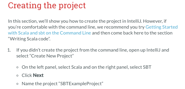 Missing information on page: BUILDING A SCALA PROJECT WITH INTELLIJ